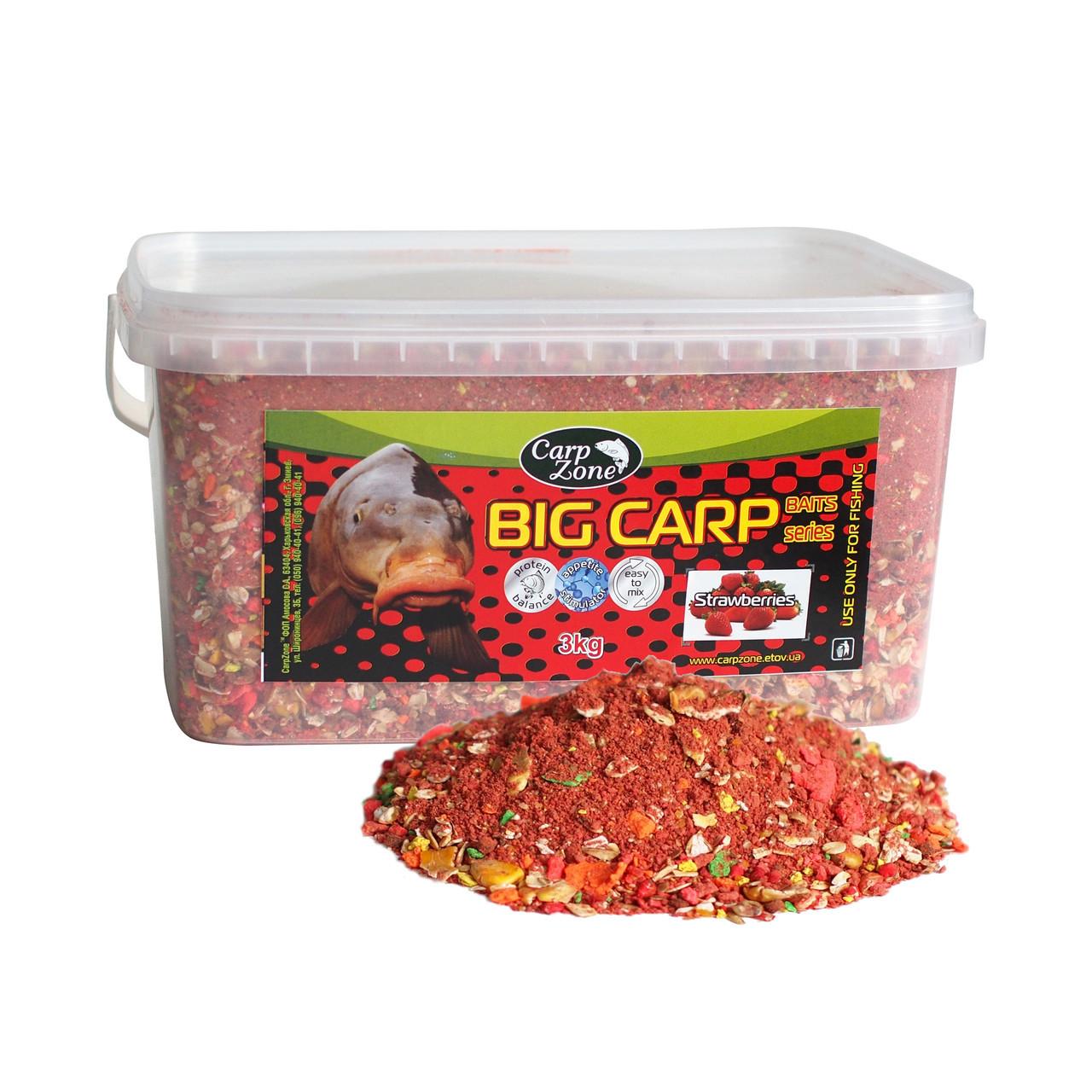 Прикормка Big Carp Series Baits Strawberries (Клубника) 3 кг