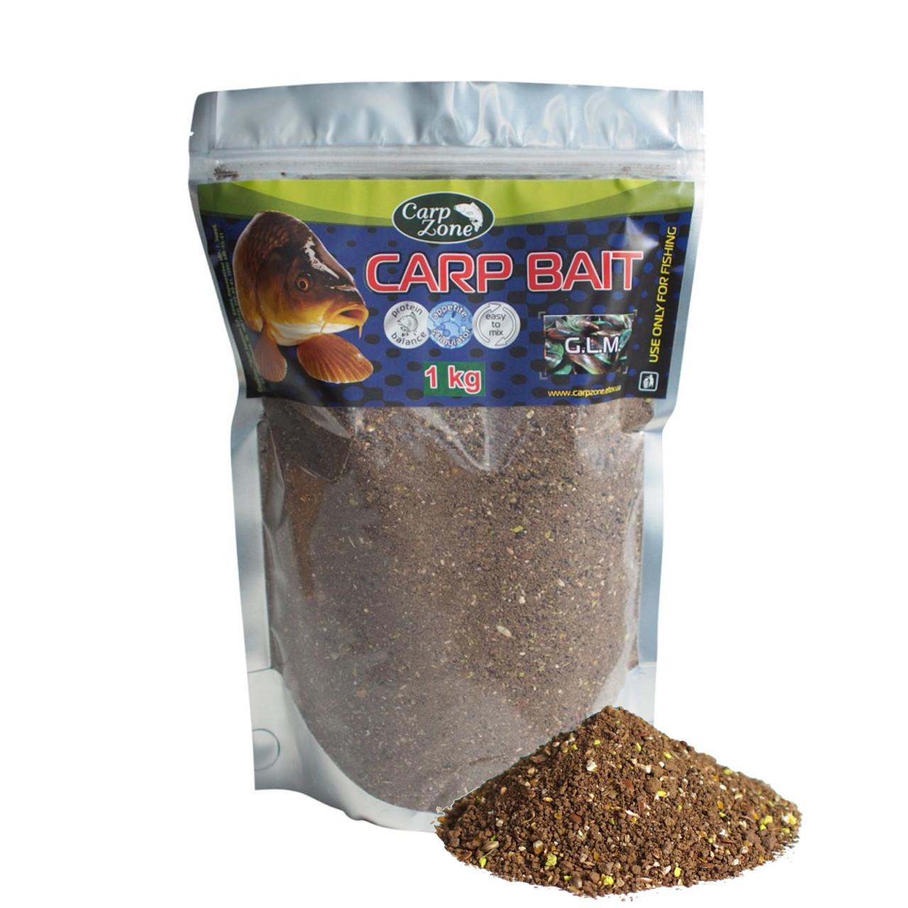 Прикормка Carp Bait G.L.M. (Зеленогубая мидия) 1 кг