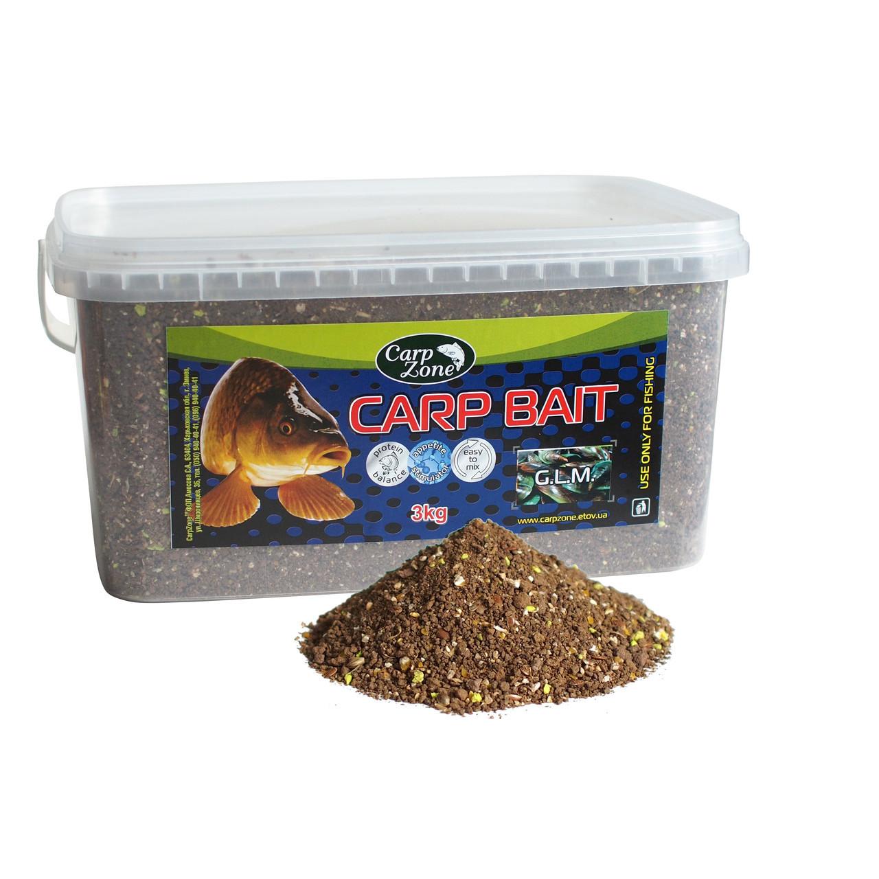 Прикормка Carp Bait G.L.M. (Зеленогубая мидия) 3 кг