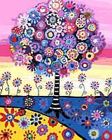 Картина по номерам 40x50, Красочное дерево, фото 1