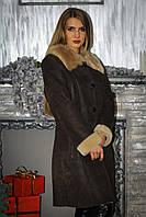 Дубленка женская  Oscar Fur 338/1 Коричневая