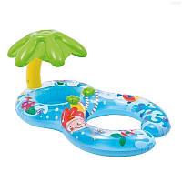 Детский надувной плотик для плавания Intex 56590 «Мама и ребенок», 117 х 75 см