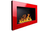 Настенный биокамин 650x400 Красный глянец