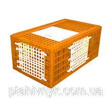 Ящик для перевезення індиків з трьома дверцятами