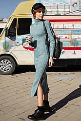 Женское теплое платье гольф ниже колена 42,44,46,48