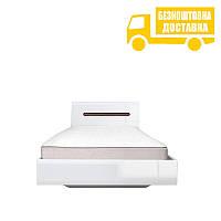 Ліжко односпальне Ацтека (білий глянець) 90х200