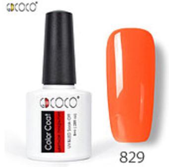 Гель-лак GDCOCO 8 мл, №829 (яркий, оранжевый)