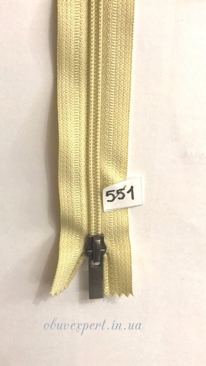 Молния спираль №7 M-ZIP, 50 см, цв. бледно-бежевый (551)
