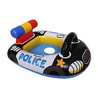 Детский надувной плотик-райдер для плавания Intex 59586, «Полицейская машина» 71 х 57 см , фото 1
