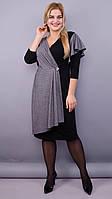 Алма. Женское платье больших размеров. Черный, фото 1