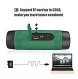 Колонка Zealot S1 портативная Bluetooth повербанк, фонарик (коричневая), фото 6