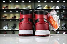 "Кроссовки Nike Air Jordan 1 Retro Off-White ""Black/Red"" (Черные/Красные), фото 3"