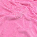 Однотонный ХБ велюр тёмно-розового цвета, фото 3