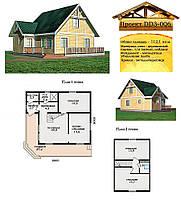 Проект каркасно-щитового дома 112,1 м2. Проект дома бесплатно при заказе строительства
