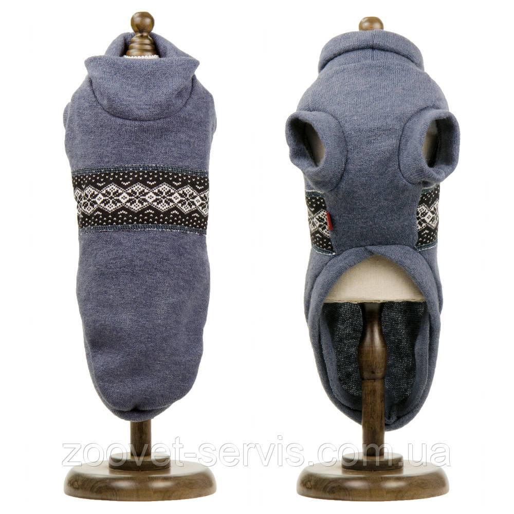 Свитер Pet Fashion Крисс серо-голубой S