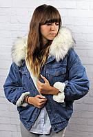 Женская джинсовка на теплом меху , фото 1