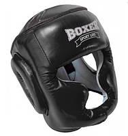 Шлем боксерский с полной защитой Кожвинил BOXER 2036-4 (р-р М-XL, черный)