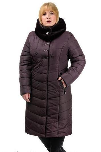 Зимнее пальто с искусственным мехом, размеры 50-58