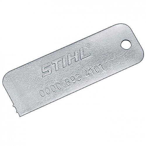 Шаблон Stihl оригинал для определения степени износа звездочки (00008934101)