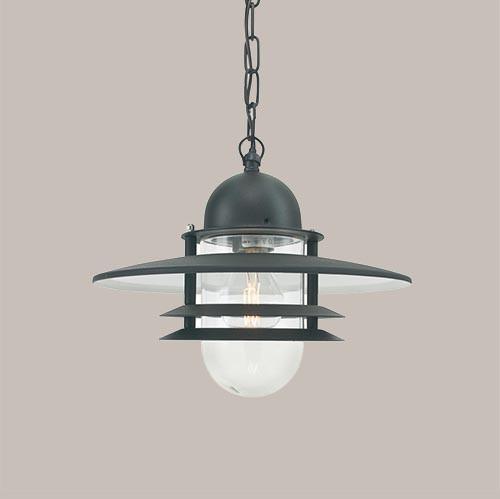 Уличный подвесной светильник Norlys Oslo 240A/В 1х57Вт E27 черный/металл