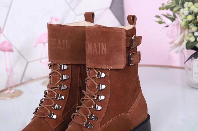 Женские демисезонные ботинки Balmain натуральная кожа/замша, фото 2