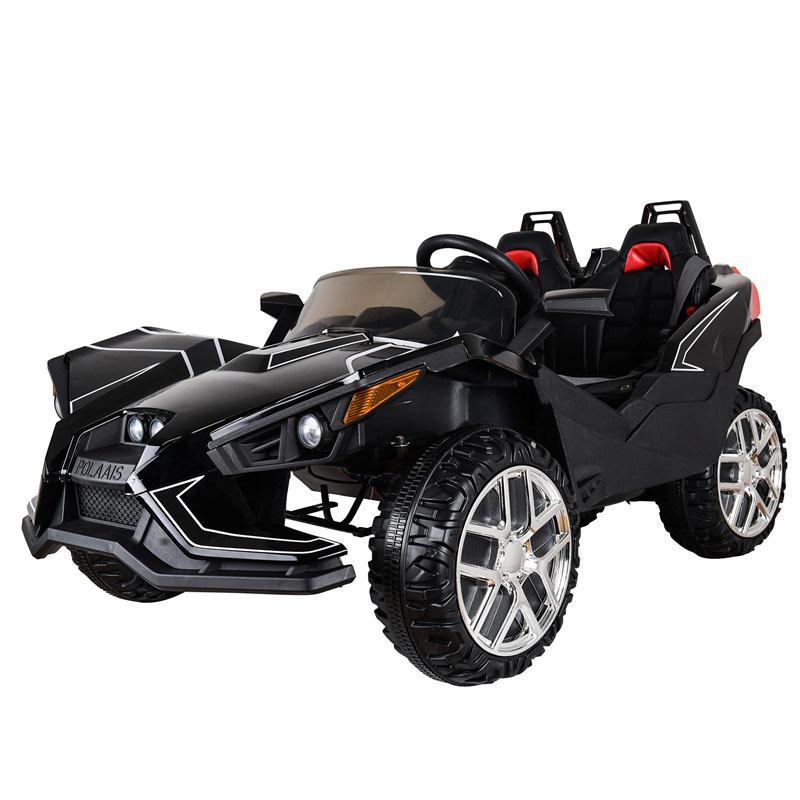 Детский двухместный электромобиль Polaris M 3907 EBLR-2: 4x4,140W, 12V10A- Черный-купить оптом