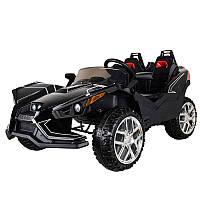 Детский двухместный электромобиль Polaris M 3907 EBLR-2: 4x4,140W, 12V10A- Черный-купить оптом , фото 1