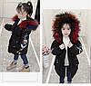Детская парка 110-160, цветной мех, черный, фото 9