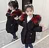 Детская парка 110-160, цветной мех, черный, фото 6
