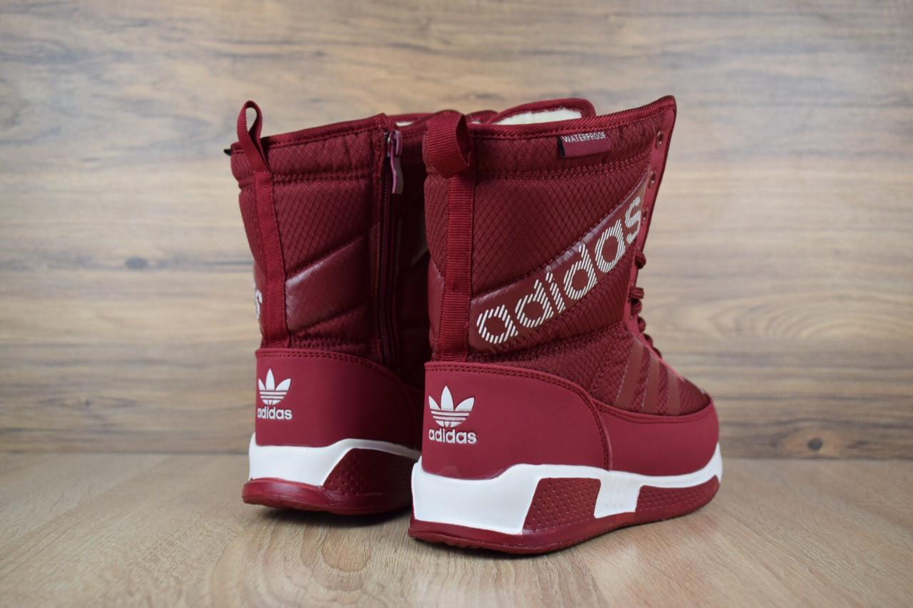 42cdc420 ... Зимние женские сапоги-дутики Adidas бордовые 3270 37 размера, фото 4 ...