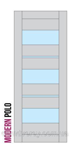 Двери межкомнатные, Родос, Modern, Polo, со стеклом