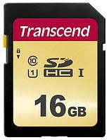 Карта памяти transcend sdhc 16 Гб uhs-i u1 500s (ts16gsdc500s)