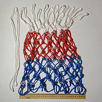 Сетка баскетбольная «СТАНДАРТ», шнур диаметром 4,5 мм. (стандартная) бело-красно-синяя