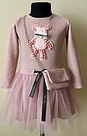 Платье для девочки с фатином и сумочкой 3-5 лет, фото 1