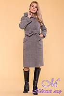 Зимнее женское пальто с капюшоном (р. S, М, L) арт. Анджи 5476 - 36689