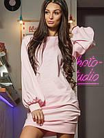 Женское трикотажное платье с широкими рукавами (Жасмин mrb)