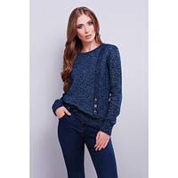 Стильный женский вязаный свитер Т.-синий