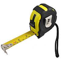 Измерительная рулетка 5м х 18мм, 3 стопора, магнит