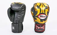 Перчатки боксерские кожаные на липучке TWINS 10-16oz FBGV-22G