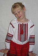 Детская вышиванка  для девочки 134-152 см, батист, Киев 146 Белый