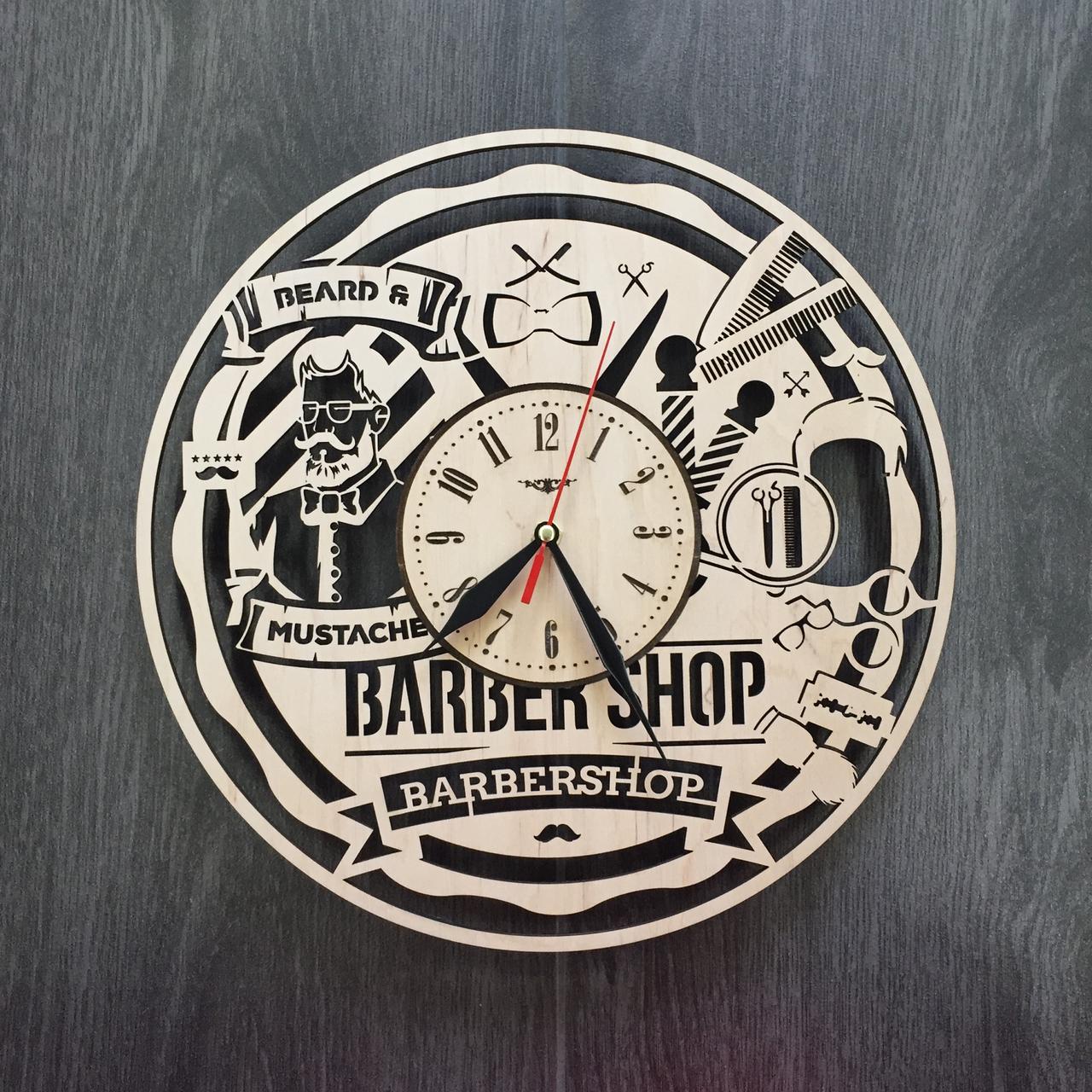 """Годинник настінний """"Чоловіча перукарня"""" CL-0005"""