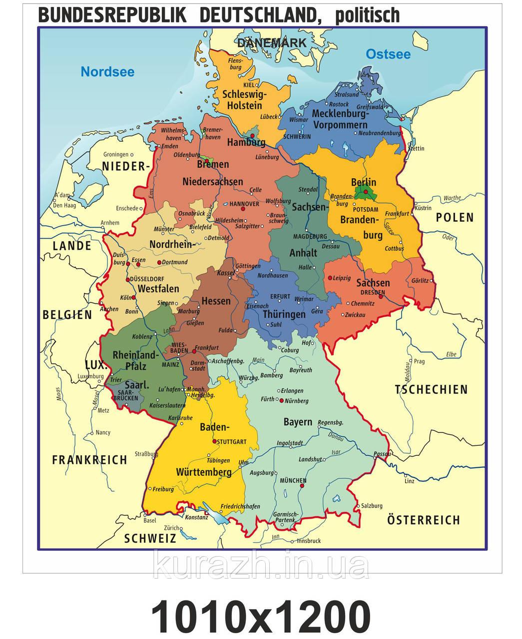 """Банер """"Карта Німеччини"""""""