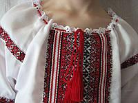 Детская вышиванка  для девочки 134-152 см, батист, Киев 140, Белый