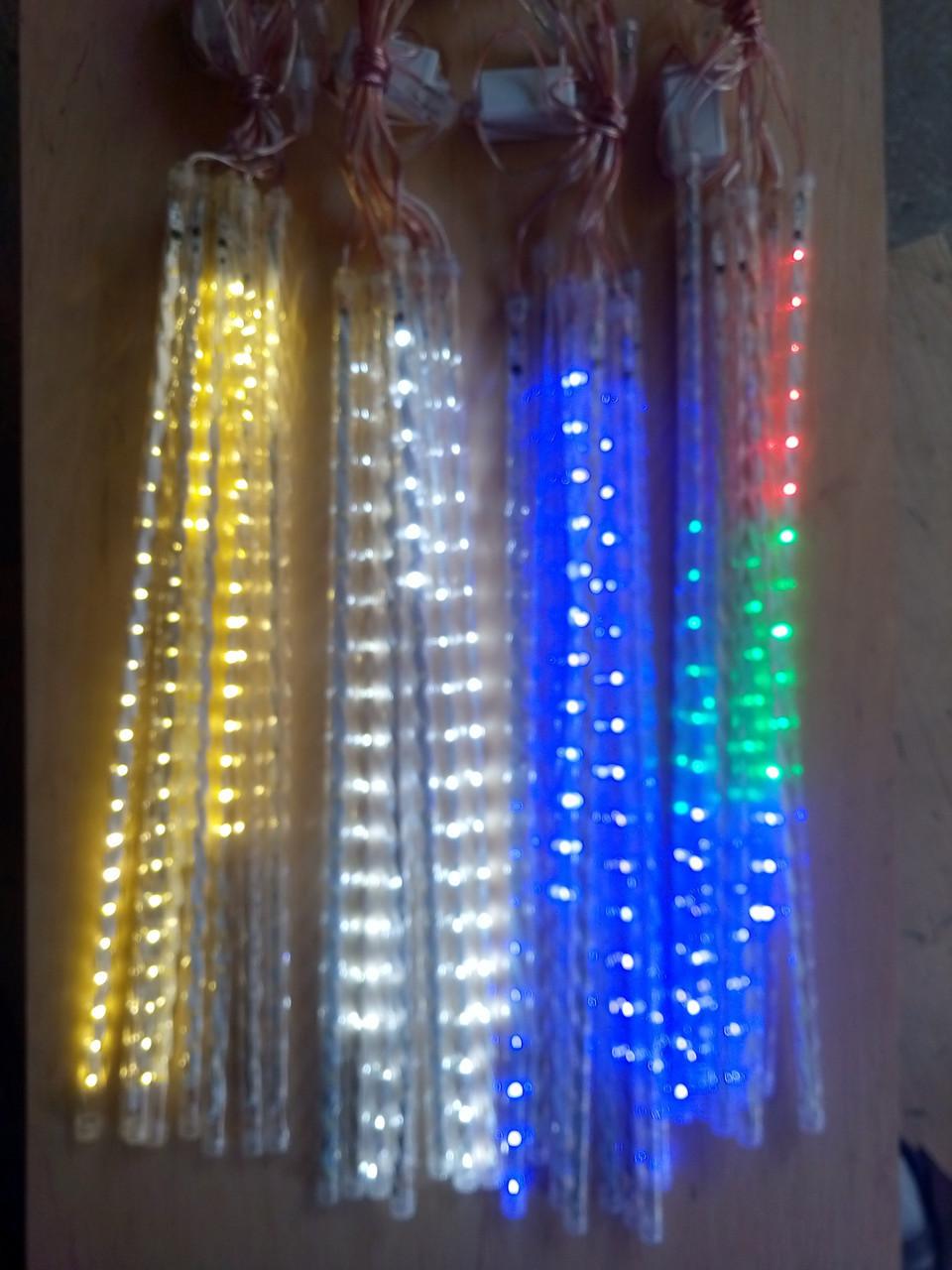 Новогодняя светодиодная гирлянда ШТОРА ПАЛОЧКИ 8шт. 3м теплый белый
