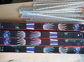 Новогодняя светодиодная гирлянда ШТОРА ПАЛОЧКИ 8шт. 3м теплый белый, фото 2