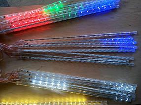 Новогодняя светодиодная гирлянда ШТОРА ПАЛОЧКИ 8шт. 3м теплый белый, фото 3