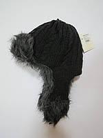 Распродажа!Стильная подростковая шапка-ушанка для мальчика Raster Польша 56-58р