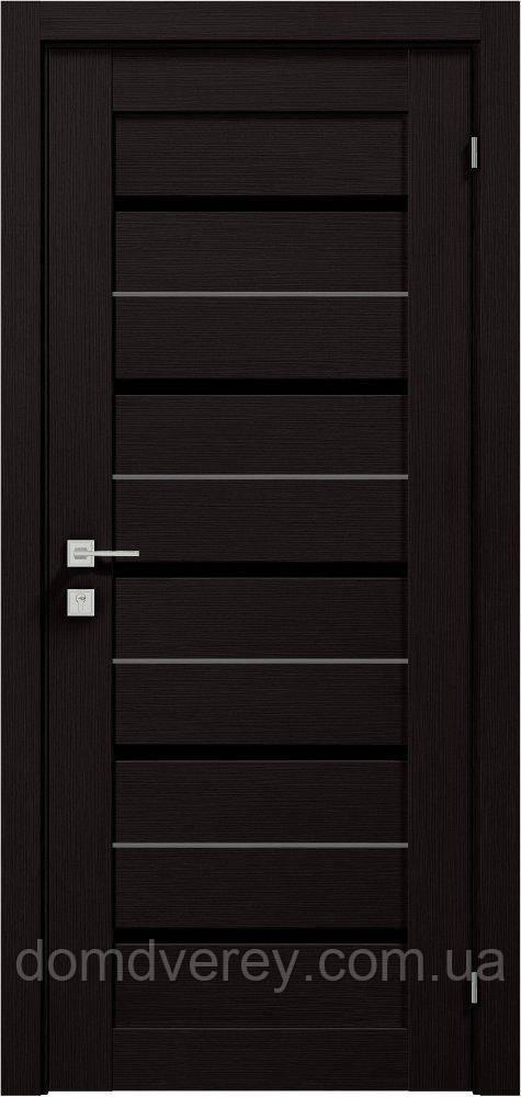 Двери межкомнатные, Родос, Modern, Lazio, полустекло BLK