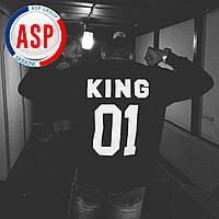 Именные свитшоты KING 01 Queen 01 толстовки кофты регланы с номером фамилией именем на заказ