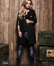 Комбинированное женское пальто, фото 2